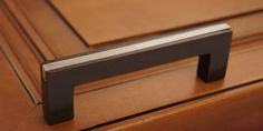 """Angle Two-Tone Banded 3"" Kitchen Cabinet Handle - Espresso Platinum Finish"""