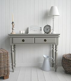 the White Lighthouse Furniture - french grey console table Height: 72cm Width: 95cm Depth: 32.5cm £155 - unfortunately too wide as we only have 88cm max width.