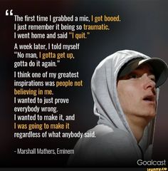 Eminem, your struggle helped me in overcoming fucking shit said by people, I gathered strength to scream fuck you against them Eminem Memes, Eminem Lyrics, Eminem Rap, Eminem Quotes, Rapper Quotes, Eminem Funny, Eminem Music, Song Lyrics, Eminem Motivation