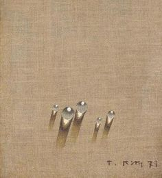 Tschang-Yeul Kim (Korean, born 1929) - Waterdrops, 1979  Chinese: 滴水 —> 滴 (drop) 水 (water)Japanese: 水滴 —> 水 (water) 滴 (drop)Korean: 물방울 —> 물 (water) 방울 (drop)