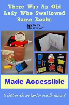 Use these ideas to make picture books accessible to children who are blind or visually impaired!