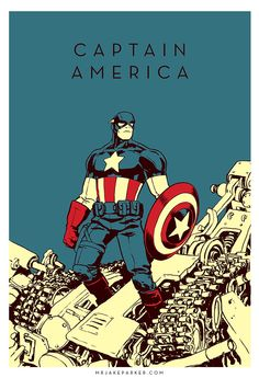 "marvel characters art | Captain America"" by Jake Parker"