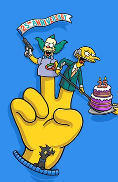 the Simpsons 25th Anniversary by Charles AP, via Behance
