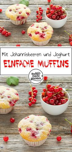 Great recipe for super simple muffins! The currant muffins are quick . - Great recipe for super simple muffins! The currant muffins are quick and easy to make. The sweet an - Dessert Simple, No Bake Desserts, Easy Desserts, Cupcakes, Muffin Cake Recipe, Muffins Sains, Yogurt, Cake Recipes, Dessert Recipes