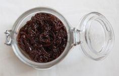 red onion marmalade. could be a legit addition to a cheese plate.