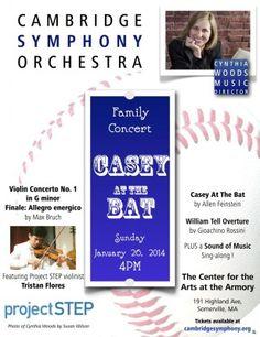 Cambridge Symphony Orchestra - Family Concert - Sunday, January 26, 2014