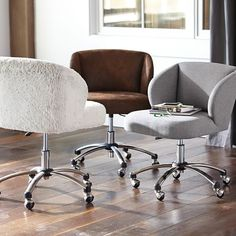 Highlands Gray Wingback Desk Chair | PBteen