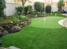 Imagine your very own backyard golf greens. We make it possible! Read more at http://cawaterlessgrass.com/design-2/how-backyard-golf-greens-may-empower-professionals-in-the-masters-to-gain-an-edge/ #golf #turf