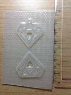 Diamonds Resin Mold  This is a brand new flexible resin mold.  Some molds may have watermarks, which you can remove by glazing the piece.