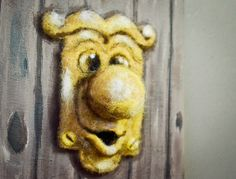 OOAK Needle Felted Doorknob from Alice in Wonderland Wool Art Felting decor #aliceinwonderland by Re-Imaginations...for sale now!