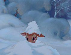 Disney Bambi This is so cute! Disney Pixar, Animation Disney, Art Disney, Disney And Dreamworks, Disney Cartoons, Disney Love, Disney Magic, Animation Movies, Christmas Aesthetic Wallpaper