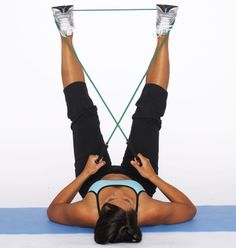 How to Do an Outer Thigh Sculpt with Resistance Tube - Outer thigh exercises are an important part of a total body workout. Get exercise instructions for an outer thigh sculpt with resistance tube. Resistance Tube, Resistance Workout, Resistance Band Exercises, Fitness Tips, Fitness Motivation, Health Fitness, Body Fitness, Inner Thight Workout, Leg Workout Women