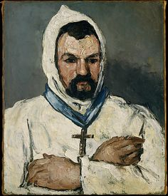Antoine Dominique Sauveur Aubert (born 1817), the Artist's Uncle, as a Monk 1866.   Paul Cézanne