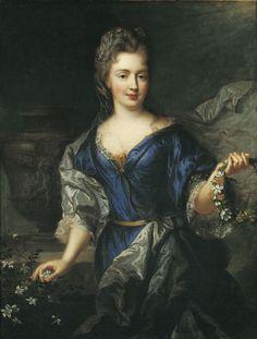ab. 1690 Francois de Troy - Portrait of Marie Anne de Bourbon, princess de Conti