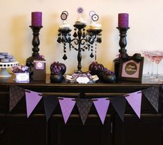 Halloween is just around the corner and it is a great excuse to throw a  party. If you are having an adult party, we recommend you try a  sophisticated purple and black color palette instead of the traditional  orange and black color scheme. If you want to go all out try adding in  some sparkle for a little glam. Creating haute Halloween decorations are  easy thanks to clever printable Halloween party decorations from Anna and  Blue Paperie. Click here to visit their website. Chances are…