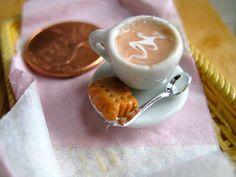 Coffee..even tiny is wonderful!  Via Etsy - Alliesminis