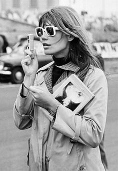 Francoise Hardy - square rimmed sunnies