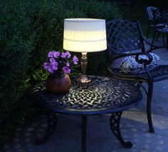solar lamp, table lamps, outside lighting, outdoor patios, lighting ideas, outdoor tables, backyard, garden, front porches