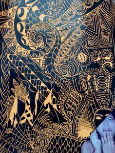 Klimt / scratch art LMS Art