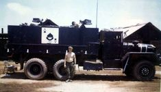 A largely forgotten part of the war in South East Asia was the one fought by the U. Army's gun trucks as part of convoy operations through the heart of enemy territory. Army Vehicles, Armored Vehicles, Military Guns, Military Aircraft, North American Arms, Us Armor, Armoured Personnel Carrier, Vietnam War Photos, Vietnam Veterans