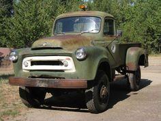 "'56 International Harvester S-140 ... w/ ""unusual factory 4x4 from an era when four wheel drive was still ... a novelty."""