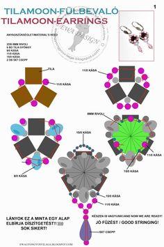 Pattern bijoux: Orecchini Tilamoon