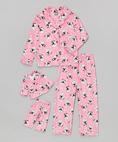Love this Dollie & Me Pink Sheep Pajama Set & Doll Outfit - Toddler & Girls by Dollie & Me on #zulily! #zulilyfinds
