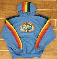 Vintage 90s Rainbow Brite Hallmark Pullover Sweater Hoodie Size Large  #RainbowBrite #Hooded