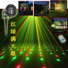 High quality laser lawn lamp Outdoor waterproof plugging lamp Christmas lights Landscape lamp