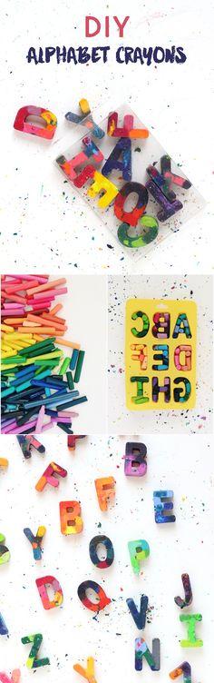 Fun DIY Crayon Alphabet Mold