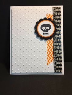 Halloween Hello Halloween Card Stampin' Up! Rubber Stamping Handmade Cards Quick Cards