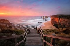 https://flic.kr/p/iVKqV4 | Sunset at the Twelve Apostles | Twelve Apostles, Great Ocean Road, Victoria  The sun setting over the Twelve Apostles on the first day of 2014.   The amazing thing about this image was the weather preceding it. The day was overcast, windy, rainy, and generally horrible. After several hours of waiting out at the location I was certain sunset was going to be clouded out. I went back to my accommodation feeling disappointed that the effort I had put into getting to…