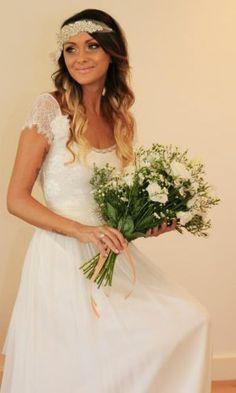 Boho lace wedding dress boho bride beach bride  Grace loves lace shop Emme dress www.graceloveslace.com