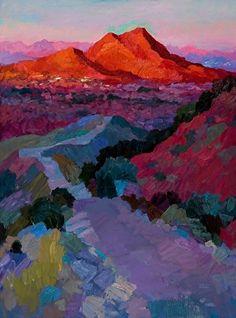 Larisa Aukon,Trail to the Top by Larisa Aukon Oil ~ 40 x 30