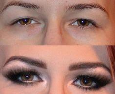 Meninas, vejam só um truque muito legal para alongar os olhos.    Se você tem olhos pequenos e quer ...