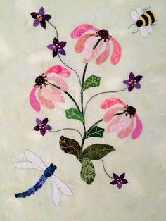 Tropical Applique: Applique Over Bulky Seams...and More Incredible Machine Embroidery