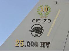 C-15A-73, 10 años, 25000 horas de vuelo