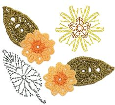 No.24 Primrose Crochet Flower Motifs / 프림로즈 코바늘 플라워 모티브도안 : 네이버 블로그