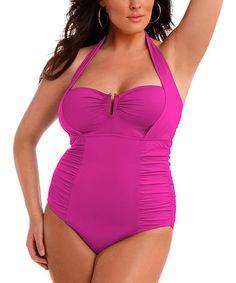 03f0d0789d755 Love this Hibiscus Halter One-Piece - Women  amp  Plus by Sorella Swim on
