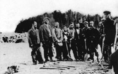 the sonderkommando/notice guard is smiling Belzec Extermination Camp (Poland)