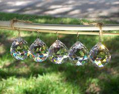 30mm Crystal Balls 5 pcs Window Hanging by weddingbridaldecor