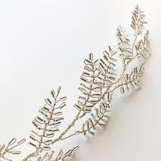 The THALIA Vine close up! The perfect wedding hair accessory for the modern brid… - Haarschmuck Hair Jewelry, Beaded Jewelry, Handmade Jewelry, Wedding Hair Accessories, Wedding Jewelry, Basson, Hair Brooch, Wedding Headband, Wedding Veils