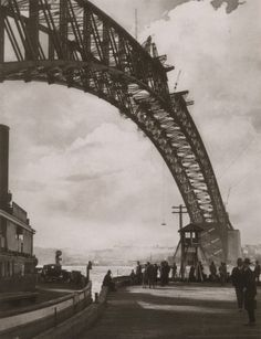 by Harold Cazneaux Arch in the sky (The Sydney Harbor Bridge). Sydney City, Sydney Harbour Bridge, Harbor Bridge, Great Photos, Old Photos, Van Diemen's Land, Historical Images, Sydney Australia, Tasmania