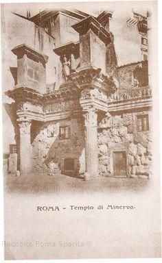 """Roma Sparita - """"Colonnacce"""" Tempio di Minerva (prima del 1905?)"""