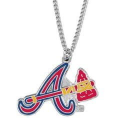 Purchase MLB Sports Atlanta Braves Team Logo Necklace Charm Pendant Gift from Store on OpenSky. Baseball Store, Braves Baseball, Brave Wallpaper, Sports Team Logos, Buster Posey, Best Fan, Derek Jeter, St Louis Cardinals, Chicago White Sox