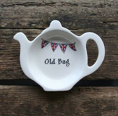 'old bag' teabag dish by sweet william designs | notonthehighstreet.com