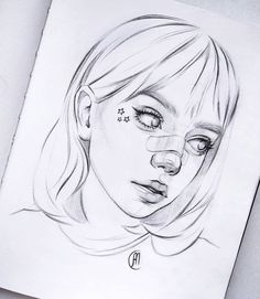 You Can Enjoy draw tutorial By Using These Useful Tips Girl Drawing Sketches, Cool Art Drawings, Pencil Art Drawings, Tumblr Girl Drawing, Drawing Art, Pretty Art, Cute Art, Art Sketchbook, Drawing People