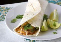 Crockpot Shredded Chicken Tacos with Cilantro and Lime