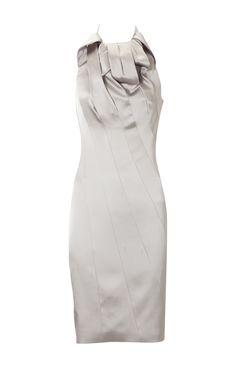 Karen Millen Glamorous Halter Dress Offwhite