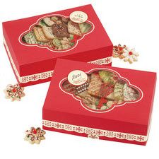 christmas cookie box large red by wilton 415 0357 christmas cookie exchange christmas candy